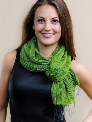 Fair Trade Chartreuse Scarf in Silk and Wool