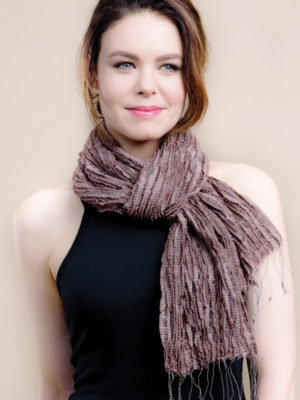Fair Trade Mocha Scarf in Silk and Wool