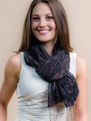 Fair Trade Slate Scarf in Silk and Wool