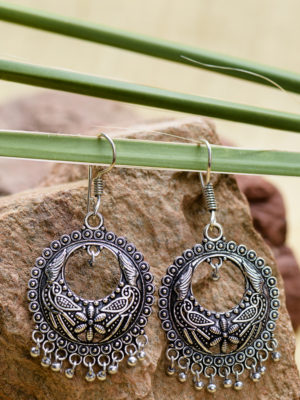 Fair Trade Silver Jhumka Earrings from India