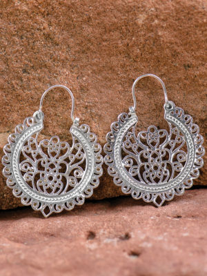 Silver Filigree Earrings ER-109