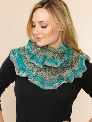 Fair Trade Aqua Infinity Scarf from India