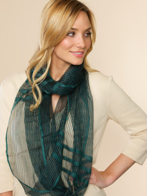 Sheer Teal Infinity Scarf from India