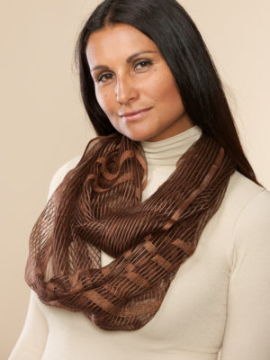 Sheer Bronze Infinity Scarf from India