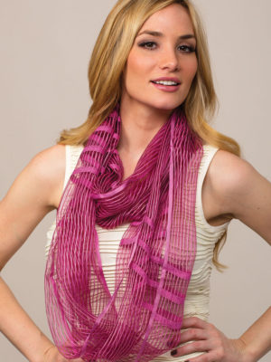 Sheer Orchid Infinity Scarf from India