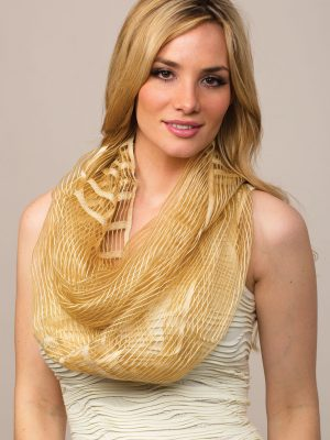 Fair Trade Cream Infinity Scarf from India