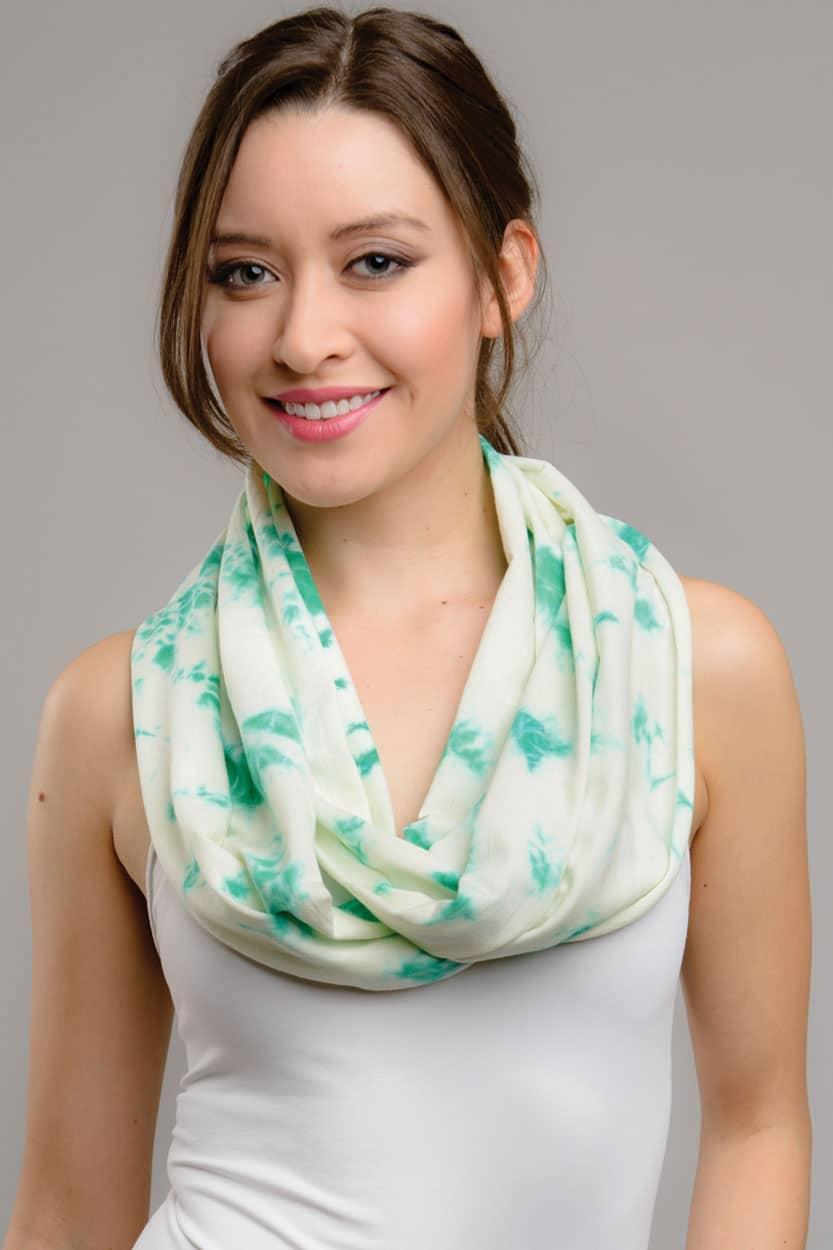 Fair Trade Green Tie Dye Infinity Scarf