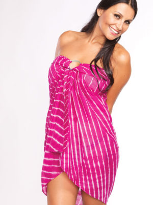 Hand Tie Dye Fuchsia Sarong from India
