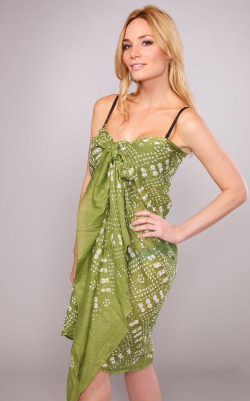 Fair Trade Green Sarong from India