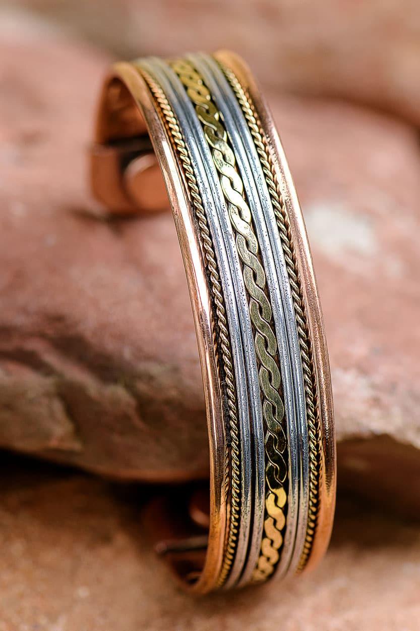 Copper Amp Silver Bracelet Sb 129 Sevya Handmade