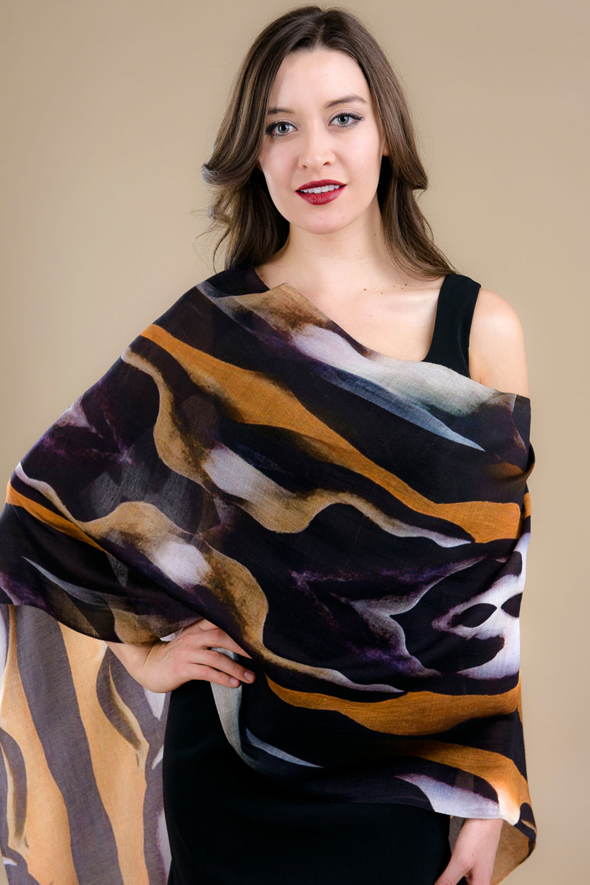 tiger silk scarf from india sevya wholesale silk scarves