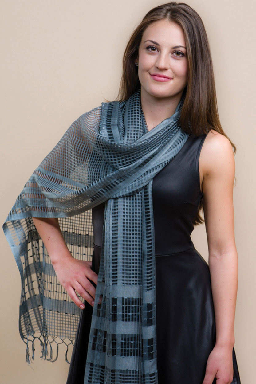 sarita silver scarf sevya fair trade wholesale