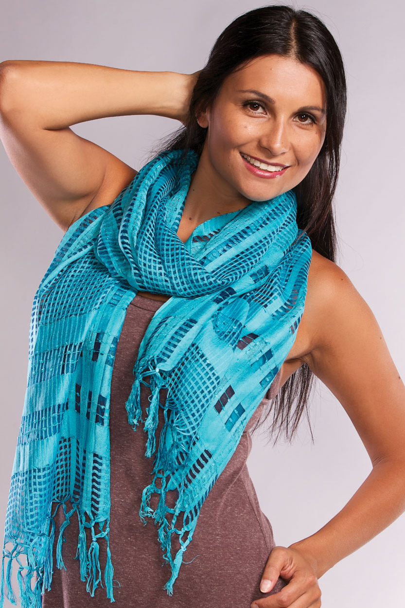 sarita peacock scarf sevya fair trade wholesale