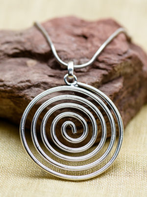 Fair Trade Silver Spiral Necklace from India
