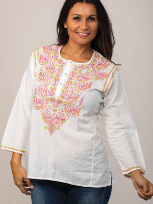 Embroidered Chikankari Tops from India