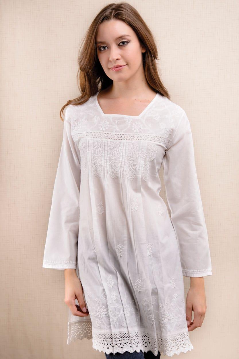 cd5ff5db610 Kamini Lace Tunic SS-40.1   Sevya Handmade