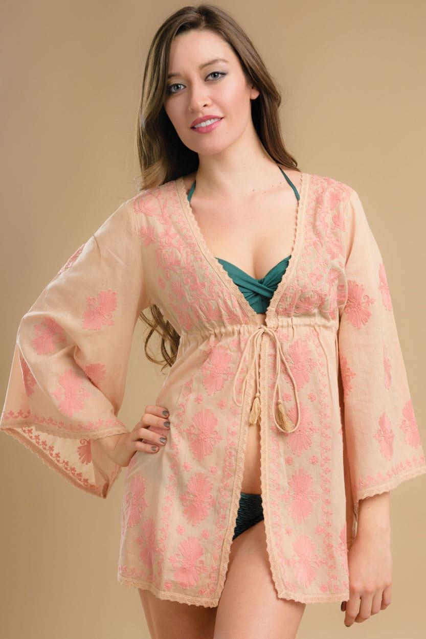 Peach Tunic Top Sevya Fair Trade Clothing Collection