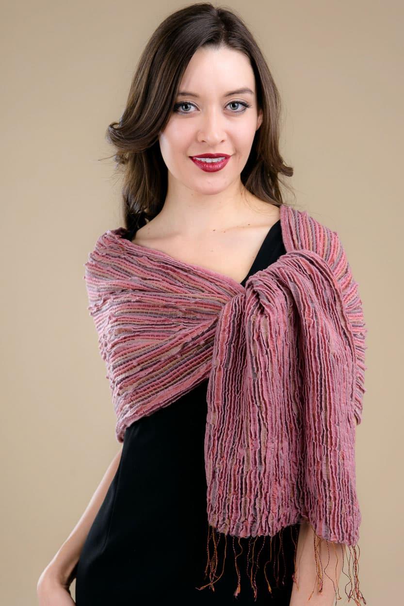 chitra silk wool scarf sevya fair trade wholesale