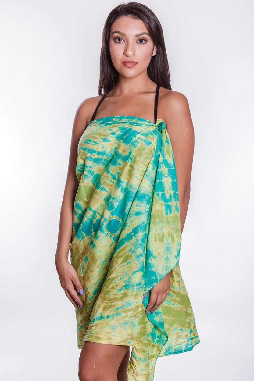 Sarong Wrap With Hand Tie Dye Made By Women Artisans In India