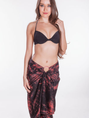 Fair Trade Red Sarong with Tie Dye