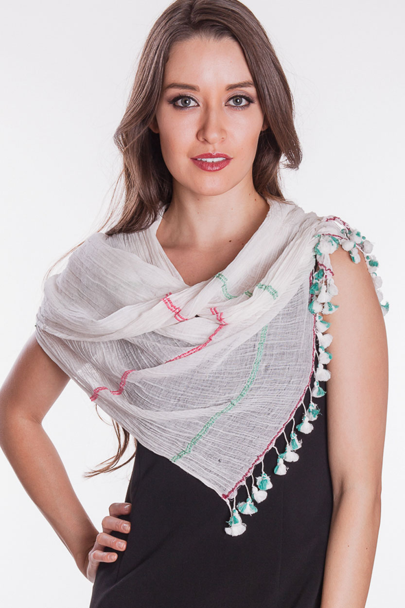 Fair Trade Tassel Scarves from India