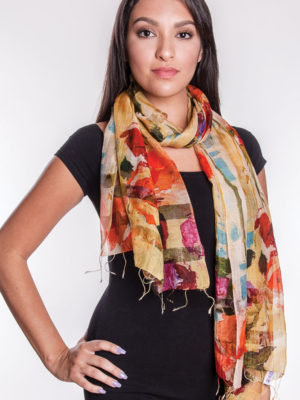 Fair Trade Floral Printed Scarf from India