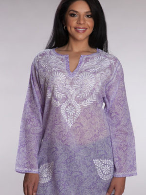 Fair Trade Purple Print Tunic