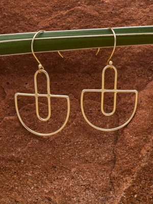 Fair Trade Golden Basket Earrings from India