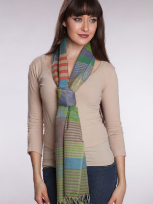 Fair Trade Lime Green Wool Scarf from India