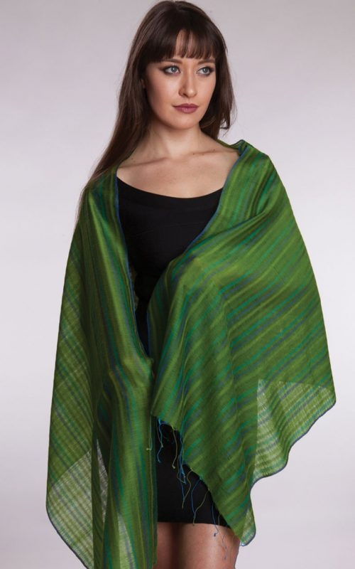 Fair Trade Wool Silk Blend Scarf from India