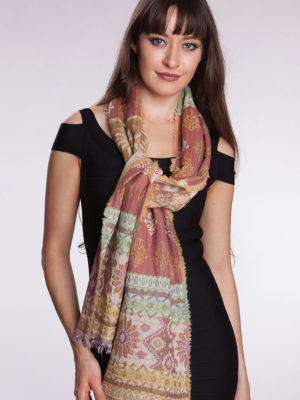 Fair Trade Pink Wool Scarf from India