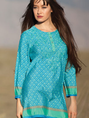 Fair Trade Silk Embroidered Tunic from India