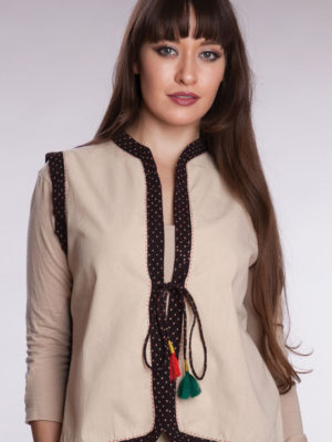 Fair Trade Hand Embroidered Cotton Vest from India