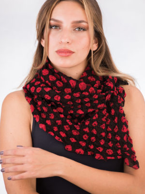 Fair Trade Black and Red Scarf from India