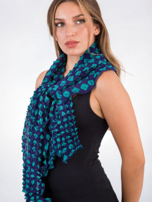 Fair Trade Navy Tie Dye Scarf from India