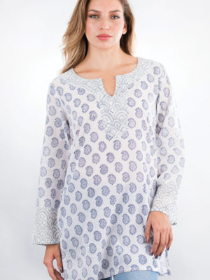 Fair Trade Navy Printed Tunic from India