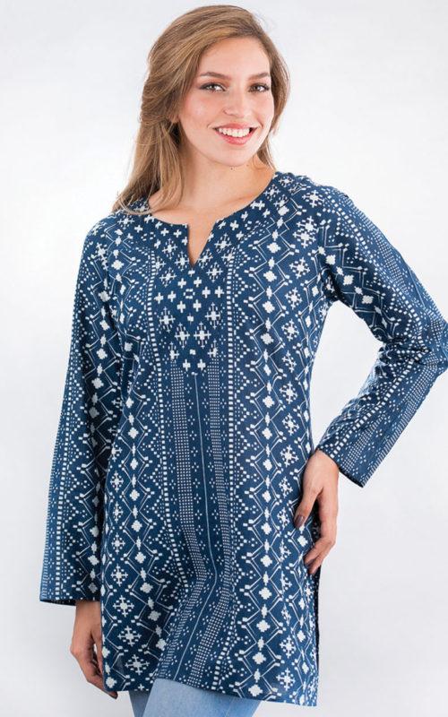 Fair Trade Indigo Printed Tunic from India