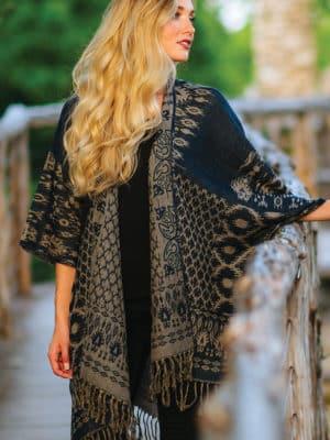Sajani Wool & Cotton Poncho PN-12.1
