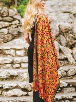 Sabari Embroidered Wool Shawl ST-105