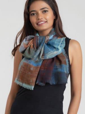 Tapani Printed Wool Scarf SC-269.1